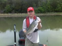 Balck Bass Caught while Fishing with Bass A Specialty Guide Service