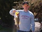 Large Mouht Bass caught by Stephen