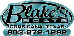 Sponsor Blake's Boats Logo Picture and Link Corsicana Texas